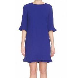 CeCe blue shift dress bell sleeve size 0